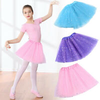 Kids Girl Adult Sequin Tulle Tutu Ballet Princess Party Dance Skirt Mini Dress
