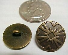 """Set of 30 Bronze Medieval Buttons, Gothic Sewing .700"""" Steampunk Clothing Italy"""