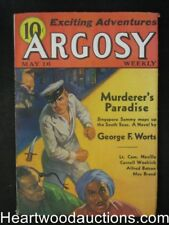 Argosy May 16, 1936 Cornell Woolrich, Singapore Sammy Cvr - Ultra High Grade