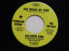 Solomon King  45 SHE WEARS MY RING / I GET THAT FEELING OVER YOU ~Capitol VG++