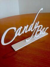 Candy Carro Noria Candy Bar signo, flotando, 5mm plástico con soporte 33x18cm