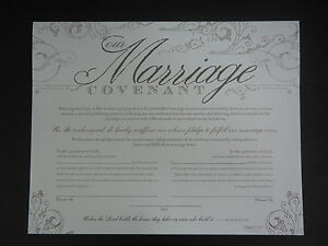 Wedding Vow Renewal Marriage Covenant Keepsake Certificate Psalm 127:1A