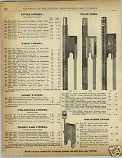1892 PAPER AD Violin Bow Bows Brazil Maple Wood Bone Frog Barnes London Model
