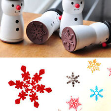 Cute Wooden Snowman Stamp Snowflake XMAS Gift Scrapbooking Card Making DIY ZN