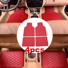 Red Wine Colour Car Floor Mats Front&Rear Set of 4 For Interior Accessories