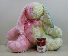 Cottage Shabby Chic Nursery Decor Chenille Bunny Rabbit Plush Throw  Easter