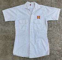 Vintage Shell Gas & Oil Service Station Attendant Shirt Petroleum Lion Uniform