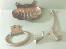 VTG  RESTORATION Metal Hardware Fixtures Bath Kitchen soap dish hooks ring