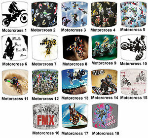Motocross Lampshades Ideal To Match Motocross Duvets & Motocross Wall Decals.