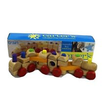 Wood Train Set Carters Celebrating Imagination Toy 18 Months and Up Toddler Toy