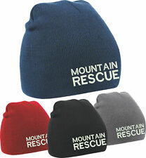 Embroidered MOUNTAIN RESCUE Beanie Hat Beechfield (B44) - Mountain Rescue
