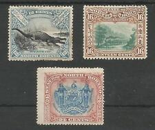 NORTH BORNEO SG106(MM),107(USED)&109(MM) QV 1897-1902 CAT £280 MINIMUM