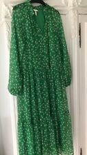 H&M Ladies Green Floral Midi Dress Blogger Boho Sold Out Everywhere