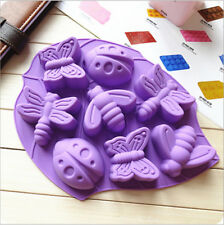 8 Cells Silicone cake mould jelly pudding handmade soap butterfly dragonfly mold