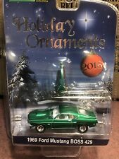 Greenlight  2016 Holiday Ornaments 1969 Ford Mustang  Boss 429 SALE!