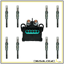 1985-93 6.2L 6.5L CHEVY GMC GLOW PLUG SET AND GLOW PLUG CONTROLLER 6.2 6.5