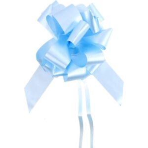 Pull Bows 50mm Ribbon Flower Wedding Gift Wrap Birthday Decoration Light Blue