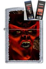 Zippo 5027 monster devil street Lighter with *FLINT & WICK GIFT SET*