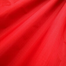 Red Ultralight 1 Yard 40d Ripstop Nylon Fabric Waterproof Double Sides PU Coated