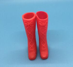 VINTAGE BARBIE SKIPPER RED RAIN BOOTS SQUISHY