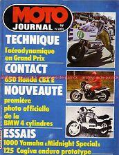 MOTO JOURNAL  601 YAMAHA XV 1000 Se Midnight Spécial HONDA CBX 650 E BMW K100