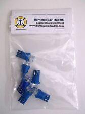6 BBT Brand Blue 12 volt LED T-10 Wedge Base Light Bulbs
