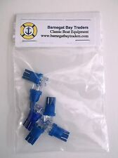6 BBT Brand Blue 12 volt Super Bright  LED T-10 Wedge Base Light Bulbs