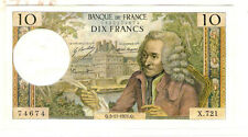My world collection> FRANCE 1971Q 10Franc Banknote  VERY NICE pre-Euro