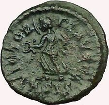 Valentinian II 384AD Authentic Ancient Roman Coin Victory Nike Angel  i35344