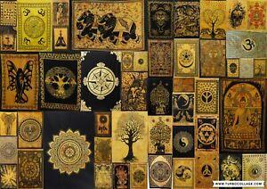 Yellow Theme Indian Mandala Wall hanging Hippie Tapestry Poster Yoga Mat Throw