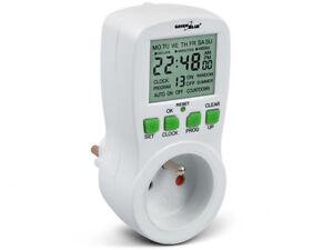 GB107 interrupteur temps minuterie numérique 16 programmes économies d'énergie