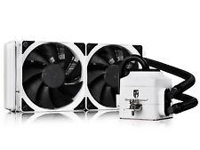 DEEPCOOL CAPTAIN 240EX WHITE Liquid CPU Cooler, LED Pump Head, 2×120mm Radiator