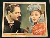"""Emperor's Candlesticks 1937 MGM 11x14"""" lobby card William Powell Luise Rainer"""