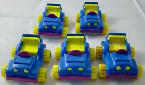 McDonald's Garfield II HM - Lot of 5 Four-Wheeler Cars - Out of Package - 1989