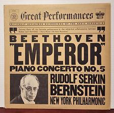 """Serkin / Bernstein - Beethoven """"Emperor"""" 1981 CBS 12"""" 33 RPM LP (EX) Reissue"""