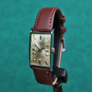 TITAN Vintage 1960s Tank Watch FHF 69-2 Montre Orologio Reloj Swiss