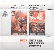 INDONESIAN Sheet Mi. 9 MNH  Volcano Fire Disaster 67  [067]
