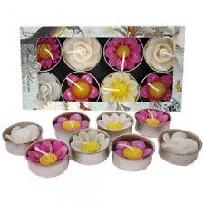 Hana Blossom Handmade Fairtrade Scented Glittered Flower Tealight Candle in Asso