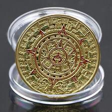 Überzogene Maya-aztekische Prophezeiung-Kalender-Gedenk-Münzen-Kunst-Sammlung