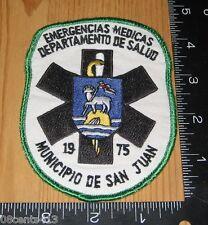 Emergencias Medicas Departamento De Salud 1975 Municipio De San Juan Cloth Patch