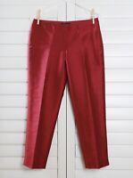 TALBOTS NWT $119 Signature Fit Silk & Wool Crop Dress Pants Size 2 Petite