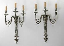 Paire d'appliques en bronze argenté/ pair of brackets bronze & silver XVIII