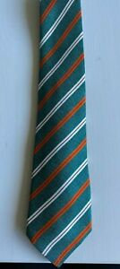 Kiton 7-Fold Silk 100% Silk Green Striped Tie