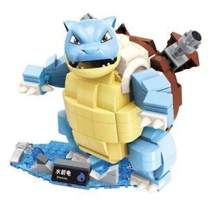 Building Blocks Pokemon Series Blastoise Fits Logo Mega Construx Kids Toys