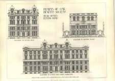 1902 Hearts Of Oak Benefit Society Head Office Euston Road Elevations