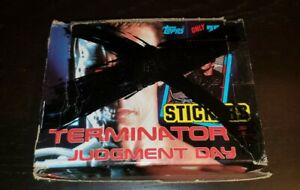 TOPPS TERMINATOR 2 JUDGEMENT DAY WAX BOX 48 PACK STICKER CARDS SCWARTZENEGER T-2