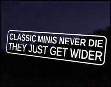 Classic Mini Wider Car Decal Sticker JDM Vehicle Bike Bumper Graphic Funny