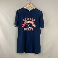 Vintage 1985 Mens XL Chicago Bears Champions NFL Champion Navy Graphic T-Shirt