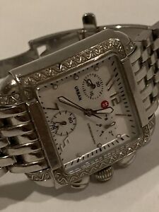 Michele urban 33mm Mother Of Pearl diamond sterling silver Ladies watch