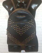 Michael Kors 35T9GAYB6L Women's Leather Abbey Backpack - Black